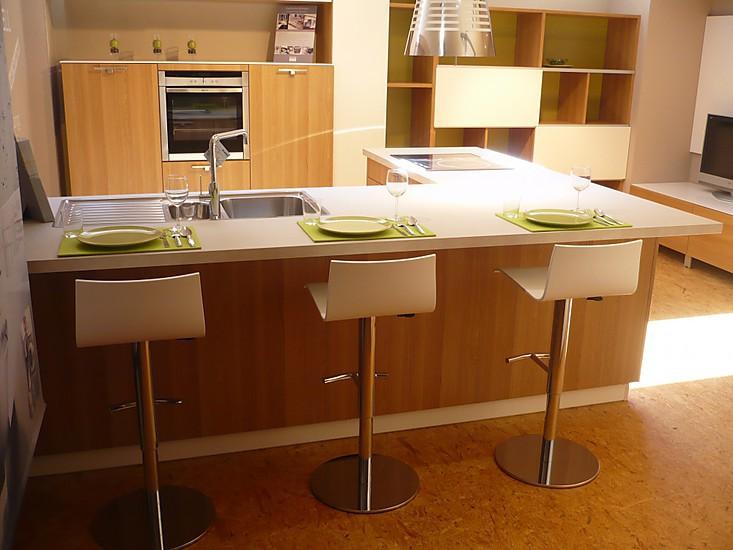 schmidt k chen musterk che holz k che in eichedekor ohne. Black Bedroom Furniture Sets. Home Design Ideas