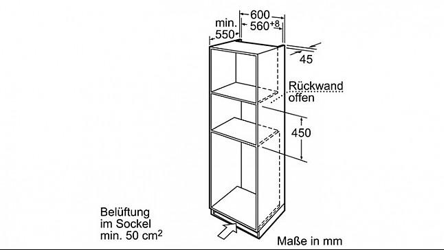 Backofen HB84K582 StudioLine Einbau-Kompakt-Backofen Mit