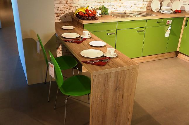Pino kuche grun for Einbaukuche zusammenstellen