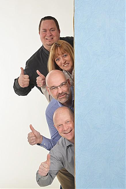 Unser Küchenstudioleiter Michael Giersberg mit unseren Küchenspezialisten Gaby Hofrath und Torsten Hörper
