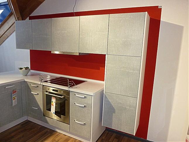 burger-Musterküche Stylische Beton-Optik: Ausstellungsküche in ... | {Pino küchen betonoptik 65}