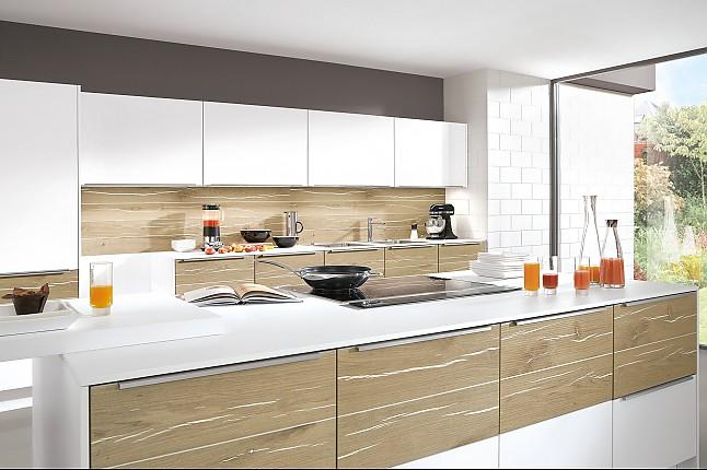 nobilia musterk che nobilia modell laser plus 480 premiumwei eiche hell geplankt insel mit. Black Bedroom Furniture Sets. Home Design Ideas