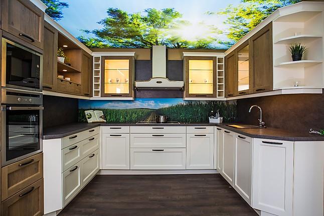 rotpunkt musterk che moderne landhausk che im farbmix ausstellungsk che in arnstadt von. Black Bedroom Furniture Sets. Home Design Ideas