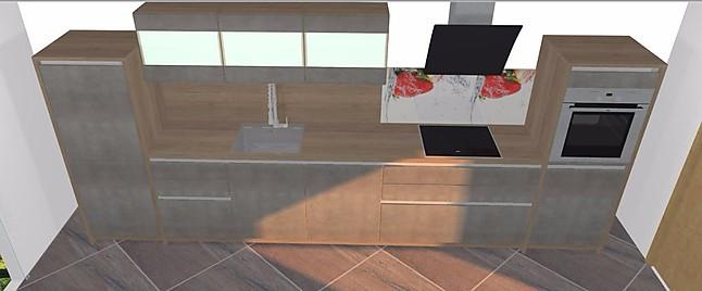 artego-Musterküche Hochwertige grifflose Küche in Beton und ...
