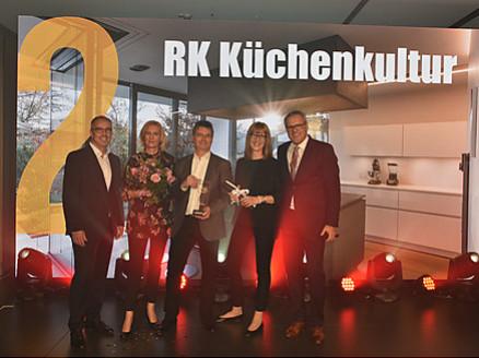 Das RK Küchenkultur Team ber der LEICHT Global Kitchen Design Award Preisverleihung