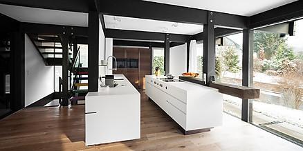 Individuelle Küche von plan 3 küche mit offenem Ess-/Wohnraum