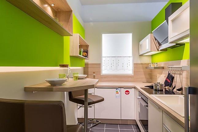 Nobilia-Musterküche Moderne Küche Lacklaminat, Samtmatt, für ...
