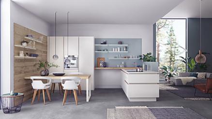 Das Sortiment von ALNO Küchenwelten Trossingen umfasst hochwertige Küchen, Elektrogeräte, Spülen und Armaturen von namhaften Herstellern
