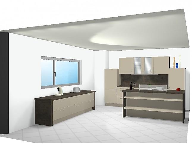 nobilia musterk che moderne k che in hochglanz sand ausstellungsk che in kaiserslautern von. Black Bedroom Furniture Sets. Home Design Ideas