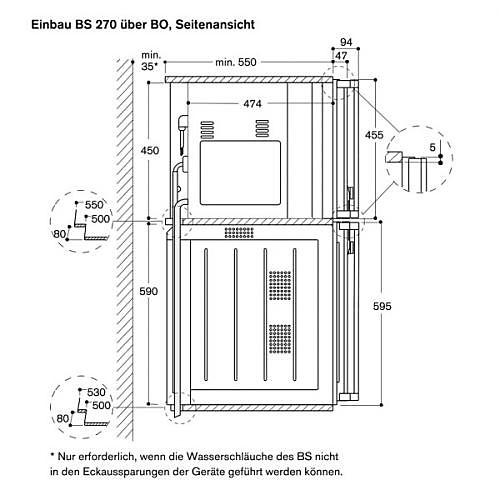 dampfgarer und kombiger te vorf hrger t gaggenau bs 275111. Black Bedroom Furniture Sets. Home Design Ideas