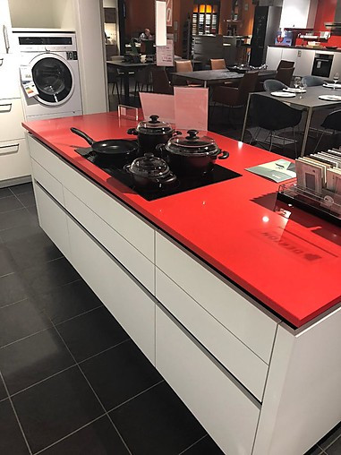 Global küchen porto grifflose l küche kochinsel mit silestone arbeitsplatte 1 7