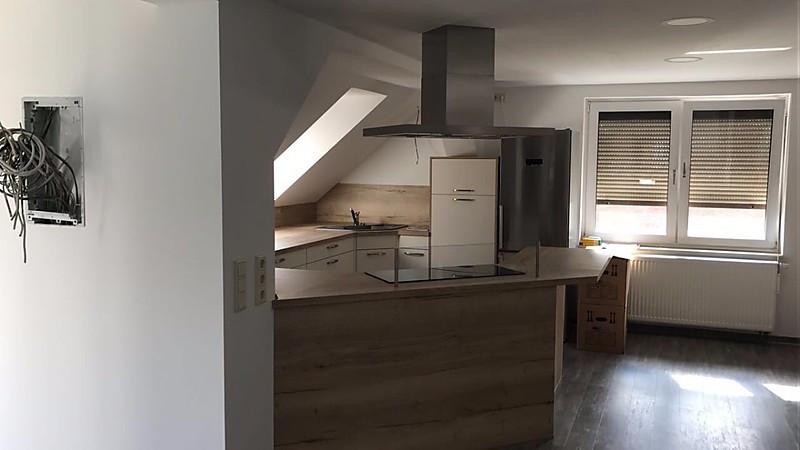 Dachgeschoss Küche dachgeschoß küche mit insel und ansatztisch