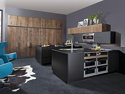 Küche mit echtem Risseiche Furnier