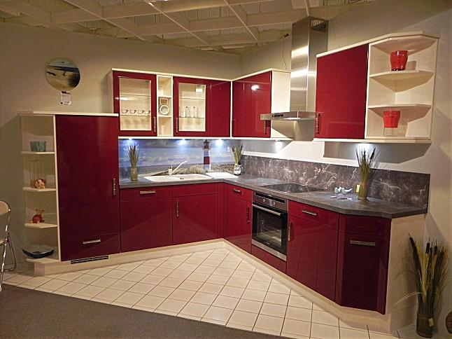 nobilia musterk che bordeaux hochglanz 671. Black Bedroom Furniture Sets. Home Design Ideas
