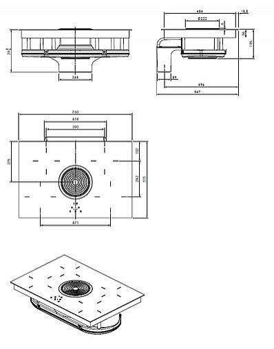 kochfeld autark bia ean nummer 4260326371956 induktions glaskeramik kochfeld mit 4. Black Bedroom Furniture Sets. Home Design Ideas