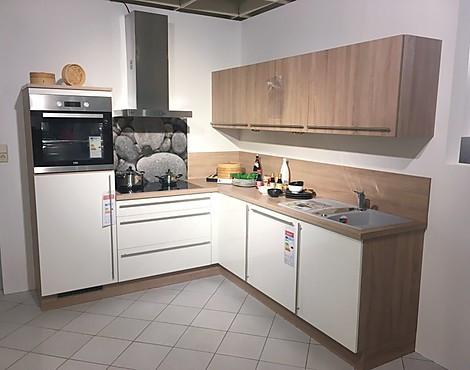 Moderne l form küche diana weiss glänzend
