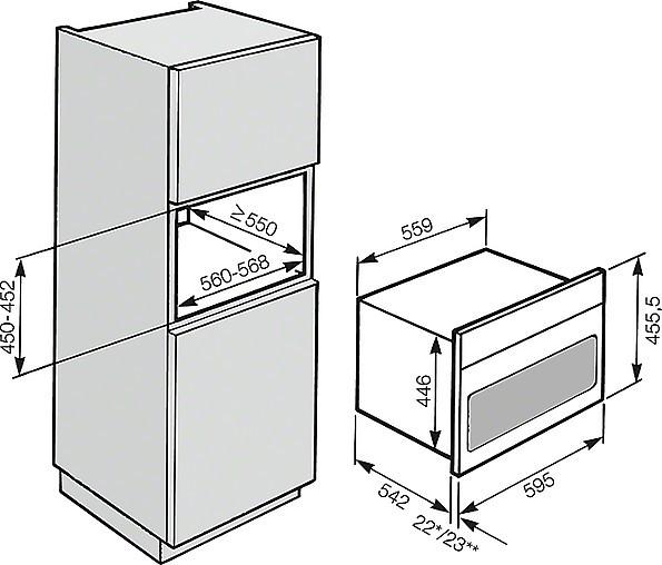 backofen h 6200 bm ed miele einbau combi backofen mit. Black Bedroom Furniture Sets. Home Design Ideas