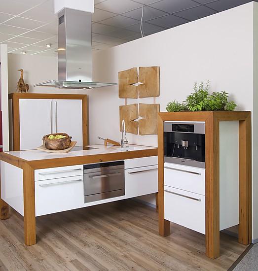 Schreinerküche-Musterküche Weiß Hochglanz Lack