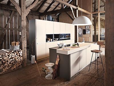 Individuell geplante Küche Colorado Sandbeige von Beckermann