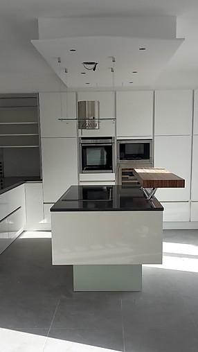 Schmidt Küchen-Musterküche Echter Lack Hochglanz ohne Griffe ...