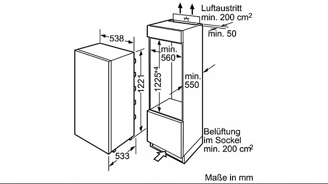 k hlschrank ki24fa65 k hlautomat mit vitafresh nahe 0. Black Bedroom Furniture Sets. Home Design Ideas