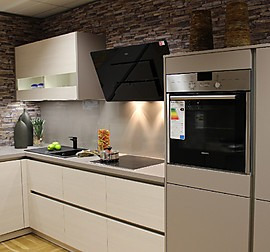 nolte musterk che kleine l k che magnolia mit holz kombiniert inklusive liefermontage sp len. Black Bedroom Furniture Sets. Home Design Ideas