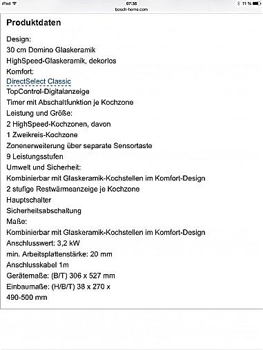 kochfeld hs5et30 bosch ceranfeld autark bosch k chenger t von k chenstudio waldschmidt in k ln. Black Bedroom Furniture Sets. Home Design Ideas