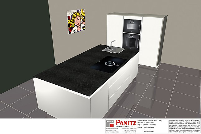 poggenpohl musterk che poggenpohl jubil umsk che cl polarweiss kpl mit granitarbeitsplatte. Black Bedroom Furniture Sets. Home Design Ideas