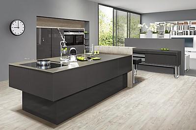 Designküche mit Laserkante