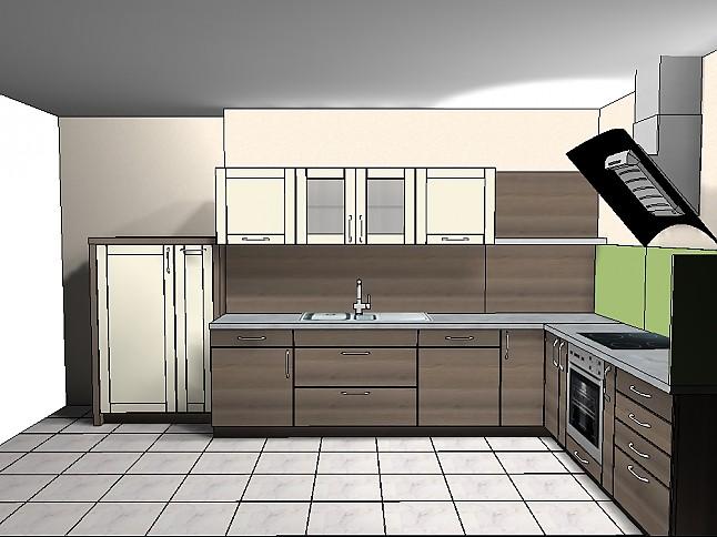 Elementa-Musterküche Schicke Einbauküche 2 farbig: Ausstellungsküche in von
