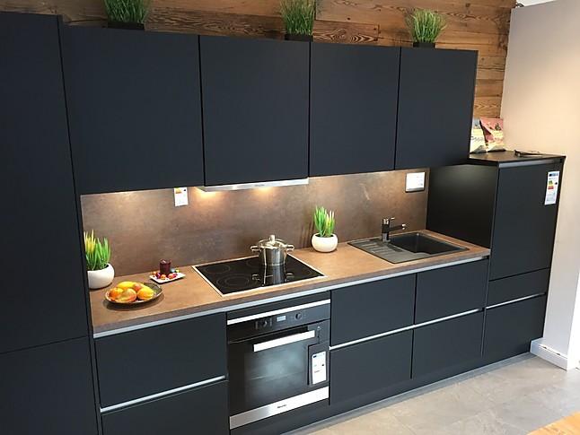Xeno Küchen-Musterküche Hochwertige XENO Küche Schwarz