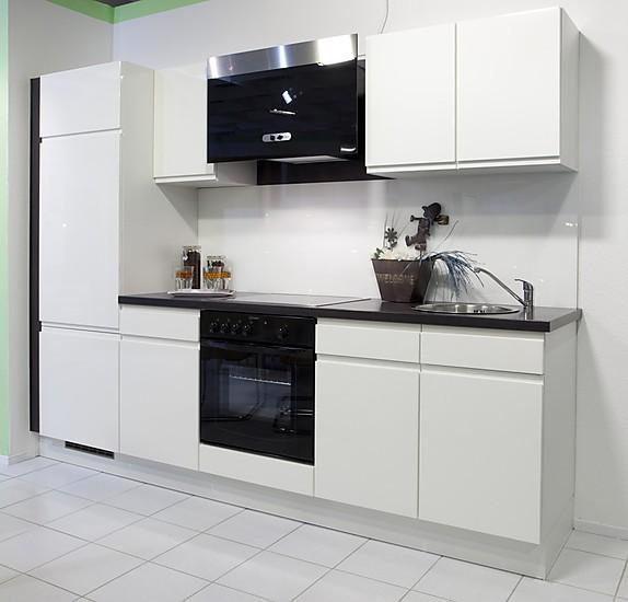 burger musterk che k chenzeile grifflos wei hochglanz lackiert inkl e ger te sp le. Black Bedroom Furniture Sets. Home Design Ideas