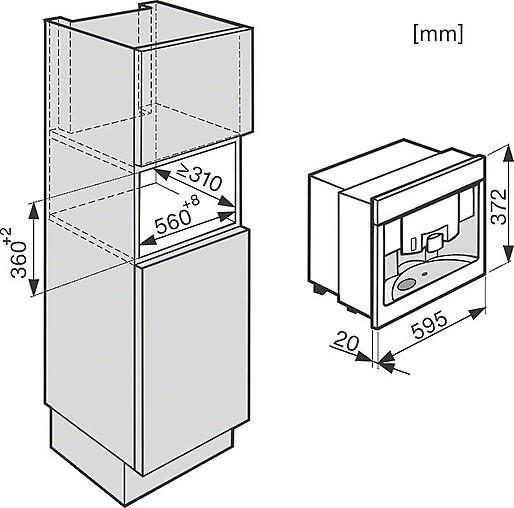 kaffeevollautomaten miele cva 6431 einbau. Black Bedroom Furniture Sets. Home Design Ideas