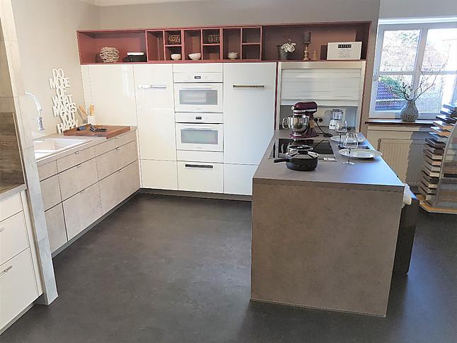 Moderne Einbauküche häcker musterküche moderne einbauküche ausstellungsküche in bad