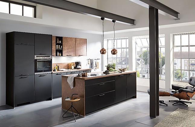 nobilia musterk che hochwertige einbauk che inkl induktionskochfeld und muldenl ftung. Black Bedroom Furniture Sets. Home Design Ideas