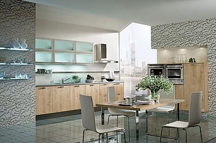 Designerküche mit Holzfronten