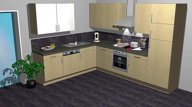 -Musterküche Kleine Küche In L-Form: Ausstellungsküche In Von
