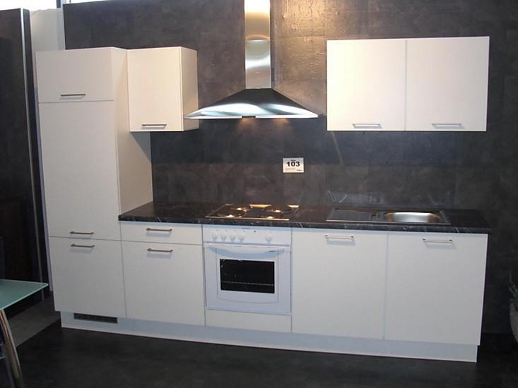 Musterküche Küchenzeile weiß Ausstellungsküche in Coesfeld von STALL Treffpunkt Küche