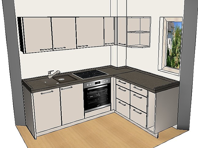 burger musterk che moderne kleine l k che komplett mit. Black Bedroom Furniture Sets. Home Design Ideas
