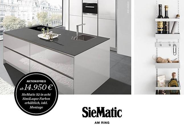 Küchen im angebot köln  SieMatic-Musterküche SieMatic - Aktions - Angebot: Ausstellungsküche ...