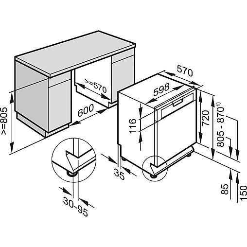 Spülmaschine G 4220 SCU ed. Miele Unterbau-Geschirrspüler