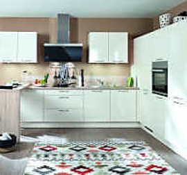 nobilia musterk che seidengrau matt ausstellungsk che in kalletal von m belhaus kramer. Black Bedroom Furniture Sets. Home Design Ideas