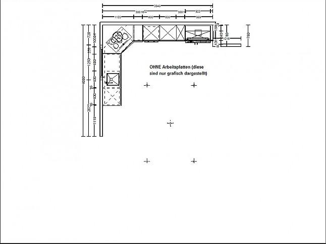 h cker musterk che grifflose einbauk che inkl elektro. Black Bedroom Furniture Sets. Home Design Ideas