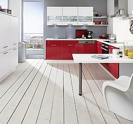 nobilia musterk che t k che 400 cm x 190 cm mit lackfronten in hochglanz weiss. Black Bedroom Furniture Sets. Home Design Ideas