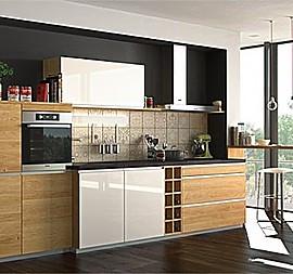 Eine Moderne Massivholzküche