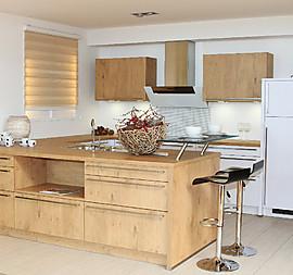 Wohnliche Küche Im Holzdekor