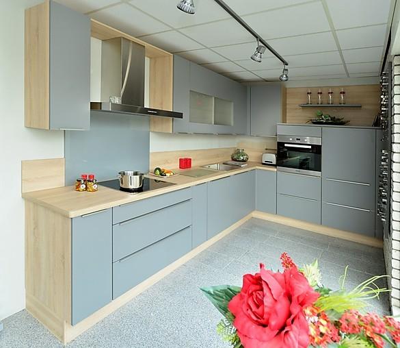 nobilia musterk che nobilia 615 laser 413 mineralgrau ausstellungsk che mit miele einbauger te. Black Bedroom Furniture Sets. Home Design Ideas