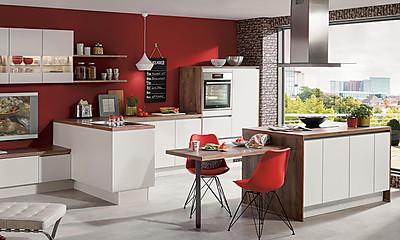 Nobilia Küchen: Laserkante schon für günstig. Foto: Nobilia
