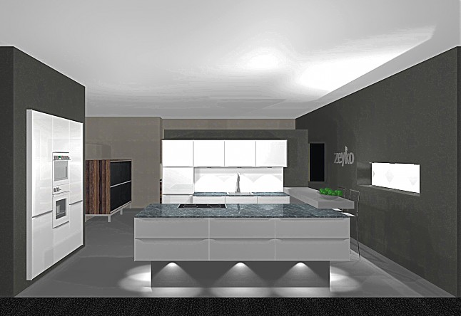 zeyko musterk che elegante k che mit fronten aus. Black Bedroom Furniture Sets. Home Design Ideas