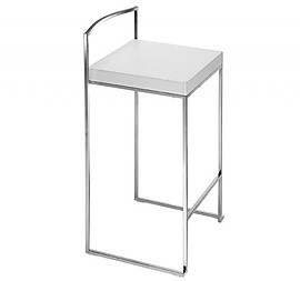 CUBO STOOL H65 WHITE LEATHER